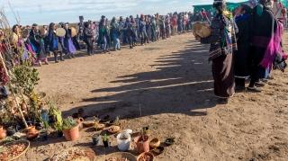 Mapuche foto 1 rewe lugar ceremonial donde se colocan semillas y plantas verdes para pedir abundancia en alimentos y plantas
